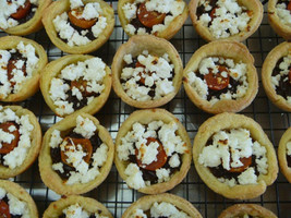 Onion, Feta and Roast Tomato Tarts