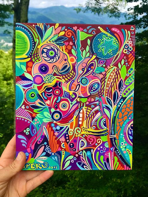"""Fizzelepod"" Original Painting"