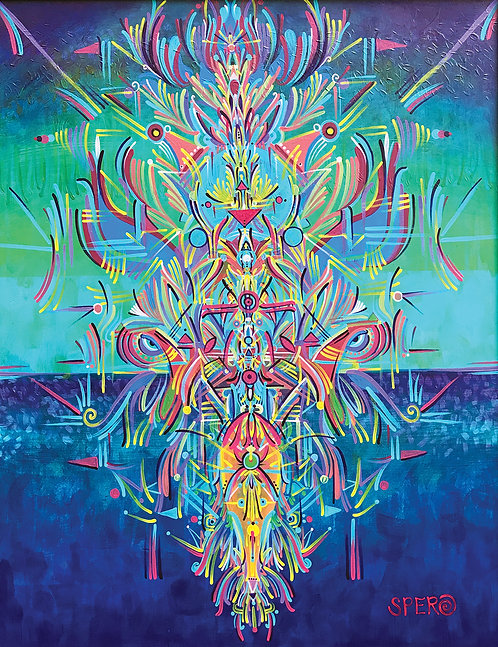 """Destruction's Creation"" Fine Art Print of Original Acrylic Painting"