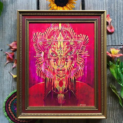 """Lion's Gate"" Custom Framed Canvas Print"