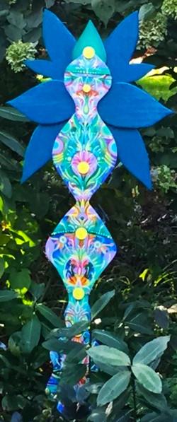 """""""Blue Flower Sculpture"""""""