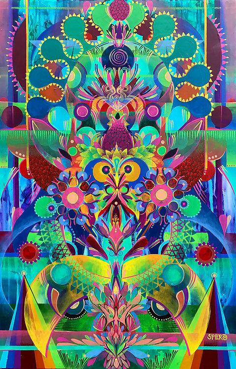 """Sunrise Eyes"" Fine Art Print of Original Acrylic Painting"