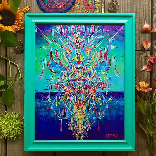 """""""Destruction's Creation"""" Custom Framed Canvas"""