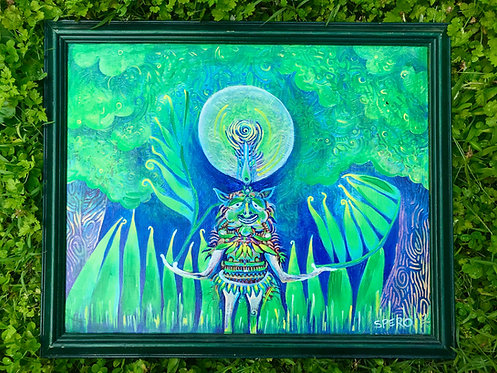 """Spirit of the Forest"" Custom Framed Canvas Print"