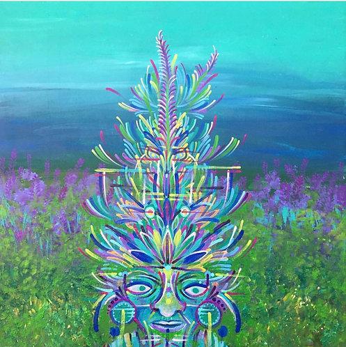 """Lavandula"" Fine Art Print of Original Acrylic Painting"