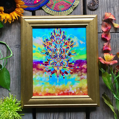 """Technicolor Kite"" Custom Framed Canvas Print"