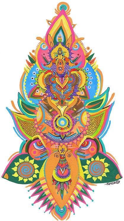 """India Moose"" Fine Art Print of Original Acrylic Painting"