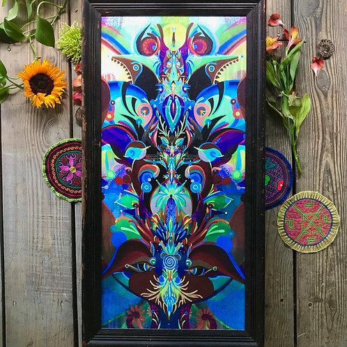 """Mantodea"" Custom Framed Canvas Print"