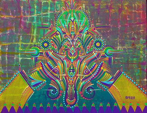 """Shaman Confetti"" Fine Art Print of Original Acrylic Painting"