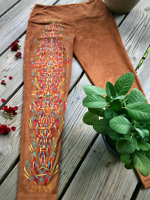 Hand~painted Suede Pants