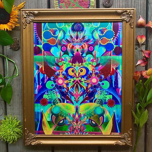 """Sunrise Eyes"" Custom Framed Canvas Print"
