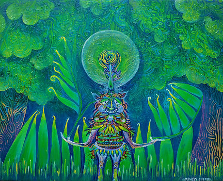 """""""Spirit of the Forest"""" Fine Art Print of Original Acrylic Painting"""