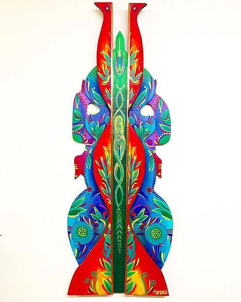 """Upward Spiral"" Sculptural Totem"