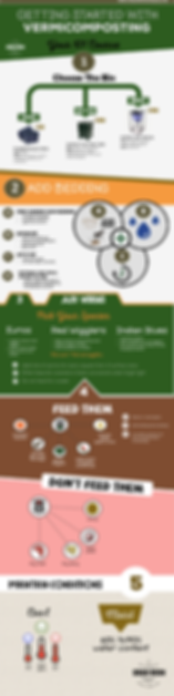 Red wiggler compost worms, Calgary and Okotoks, infographic