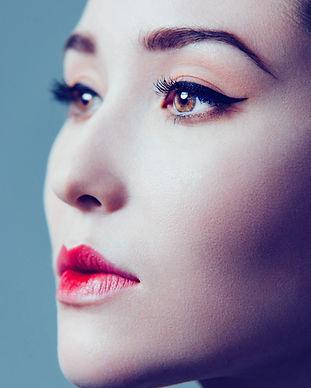 Modell mit Make-up