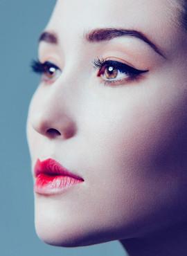 Model met make-up