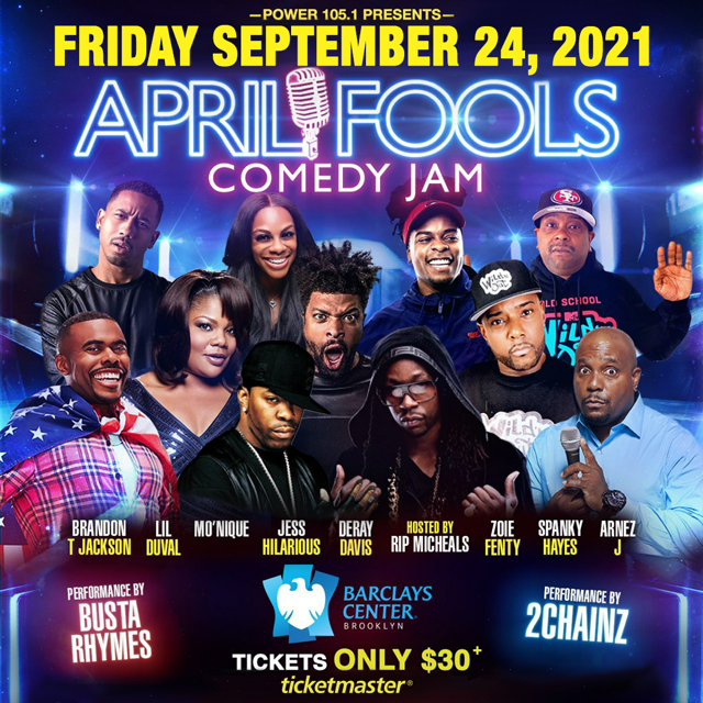 April Fools comedy jam September 24th