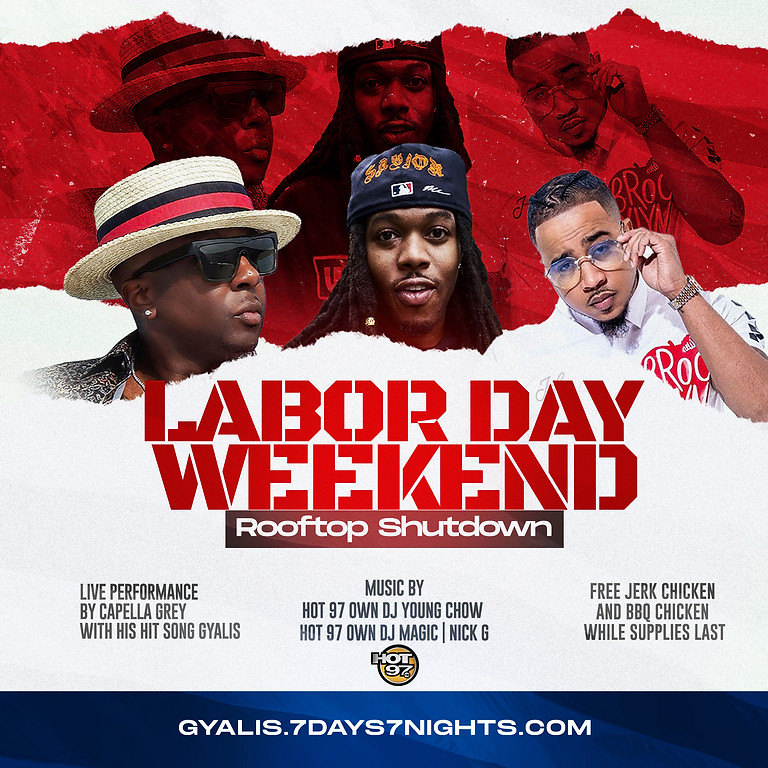 Hot 97 Labor Day Roof Top Shut down Capella Grey Performing Live