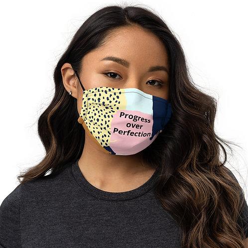 Progress over Perfection Premium face mask