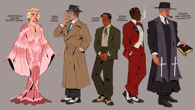 1920s Character Lineup 1