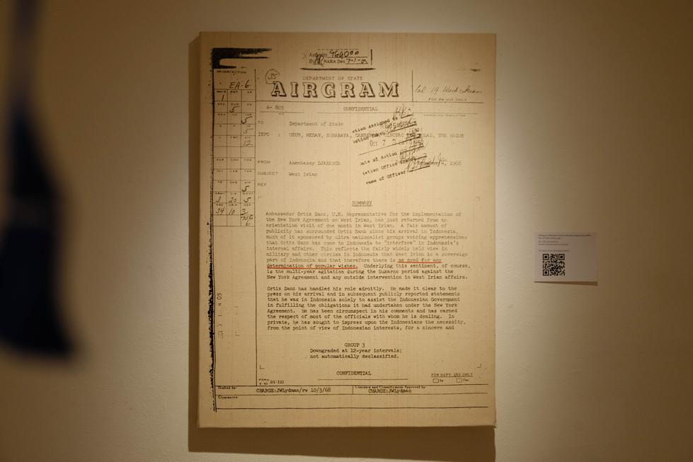 Telegram Between UN & Indonesia Regarding 1969's  Act of Free Choice, pg. 1