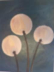 art, painting, nature, dandelion