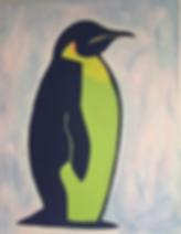 art, painting, emperor penguin