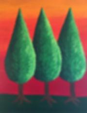 art, painting, trees, nature
