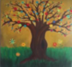 art, painting, tree, nature