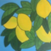 art, painting, lemon tree, citrus