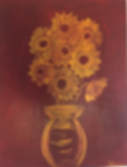 art, painting, flowers