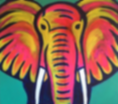 art, painting, elephant