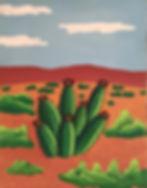 art, painting, desert, nature, san perdo cactus