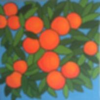 art, painting, orange tree, citrus
