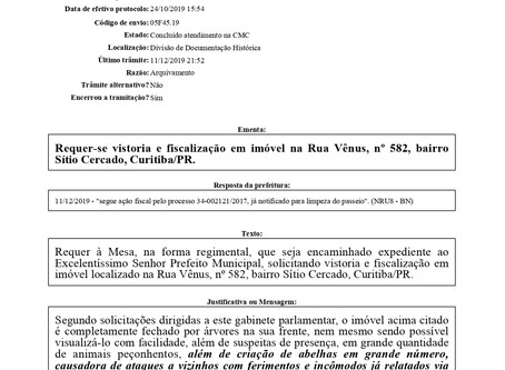 Solicitada manutenção de persianas na Unidade de Saúde Vitória Régia