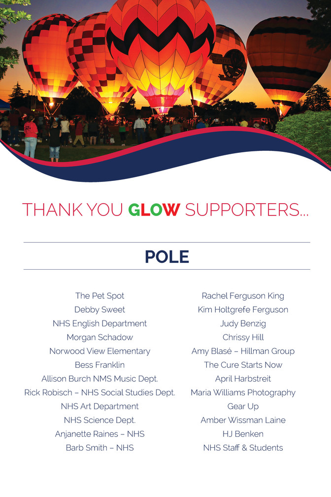 Avenues for Success® GLOW Thank You For Your Support - POLE