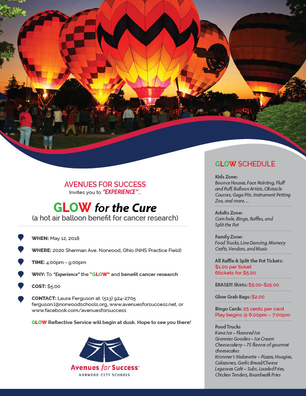 Avenues for Success® Glow for the Cure Event Schedule