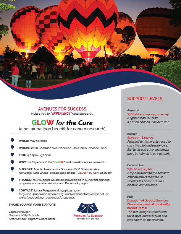 Avenues for Success® Glow for the Cure Support Opportunities