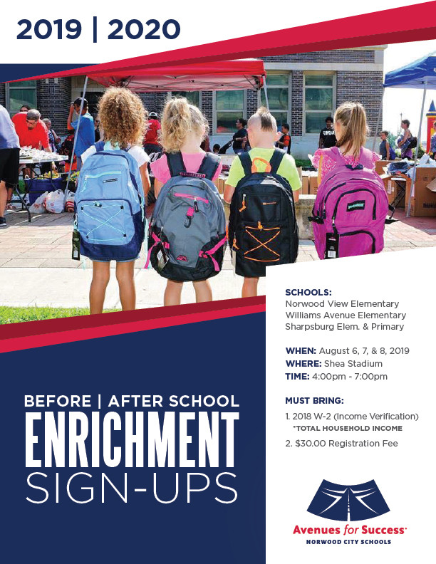 Avenues for Success® Before/After School Enrichment Sign-ups