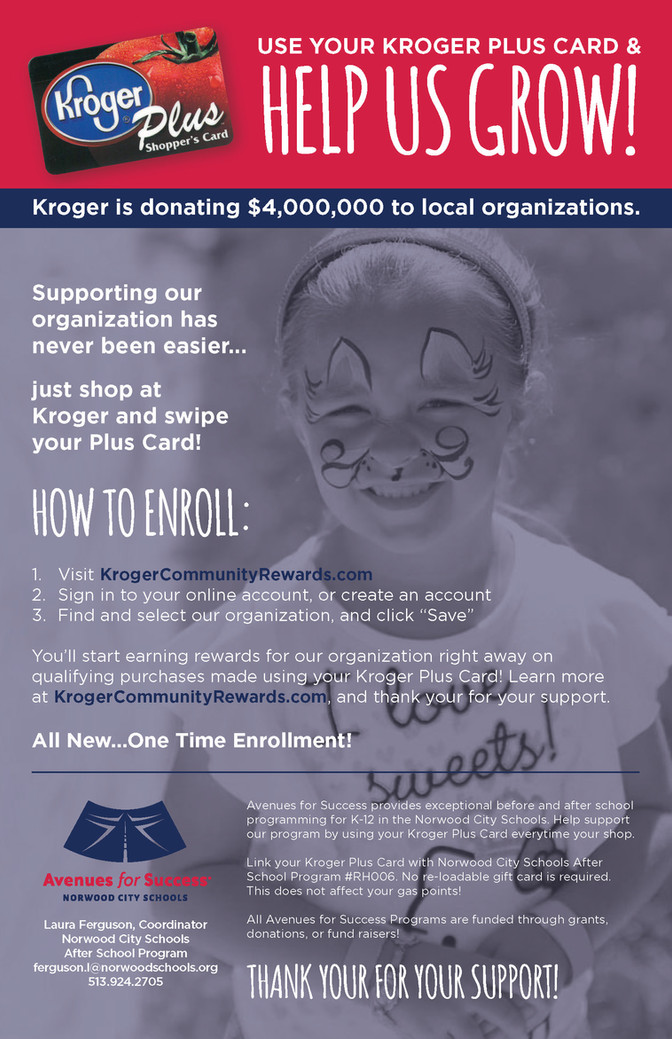 Help Us Grow With Your Kroger Plus Card!
