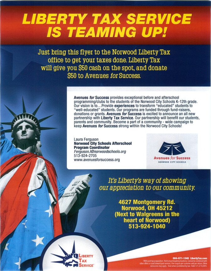 Liberty Tax Teams Up With Avenues for Success