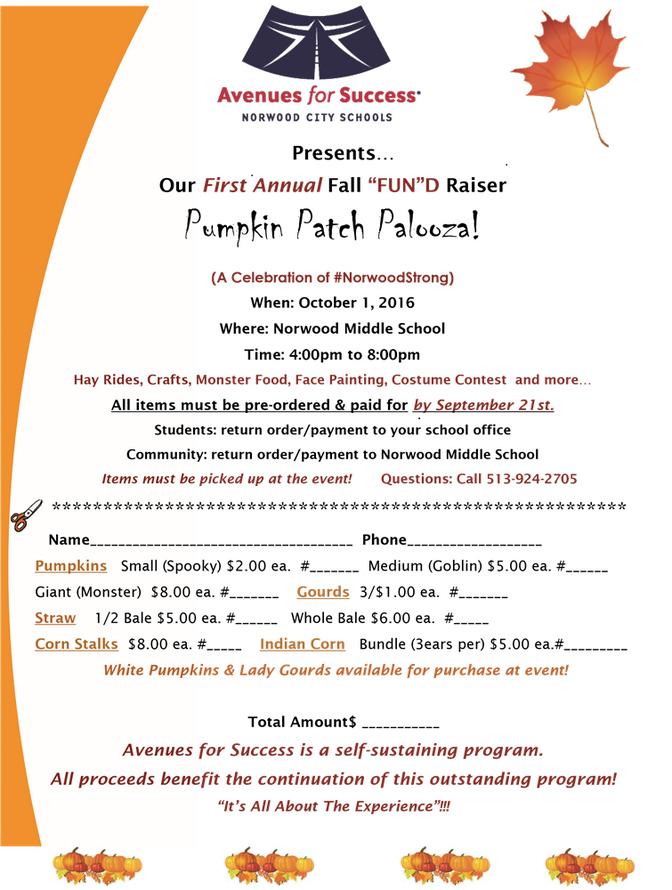Pumpkin Patch Palooza: A Celebration of #NorwoodStrong