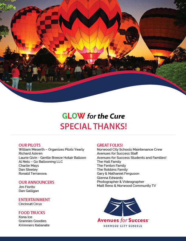 Avenues for Success® Glow for the Cure Special Thanks