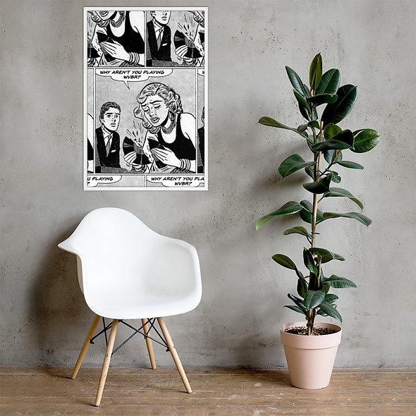 Framed WVBR Popart Poster