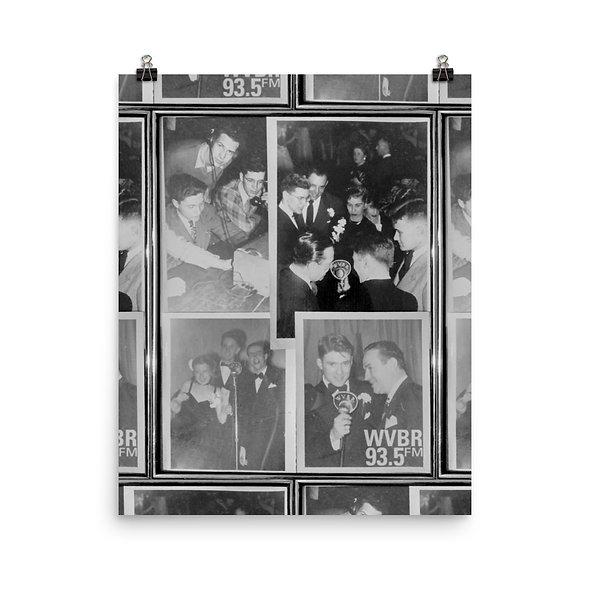 WVBR Vintage Collage Poster