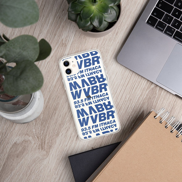 See-Through Mirrored Blue WVBR iPhone Case