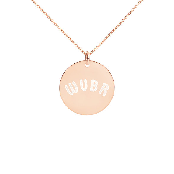 WVBR Engraved Silver Necklace (multiple colors available)