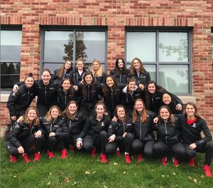 The Cornell Women's Ice Hockey 2018-2019 team celebrates International Women's Day on Instagram. (@cornellwhockey)