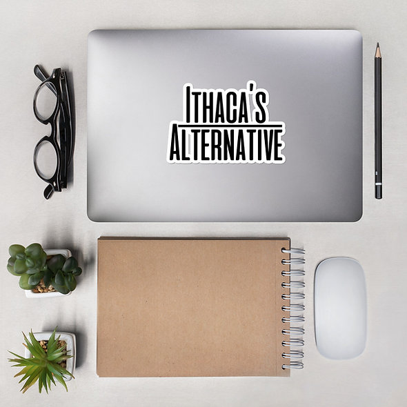 Black Ithaca's Alternative Sticker (multiple sizes available)