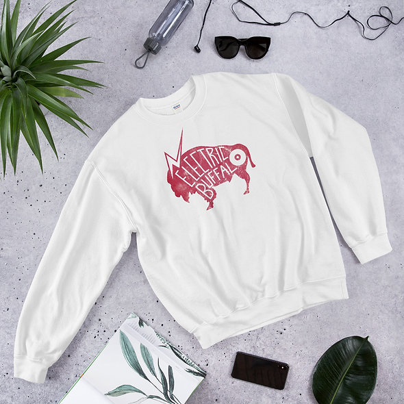 Red Electric Buffalo Records Unisex Sweatshirt (multiple colors available)